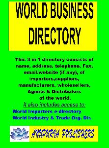 World Importers e-Directory by Anupurva Publishers