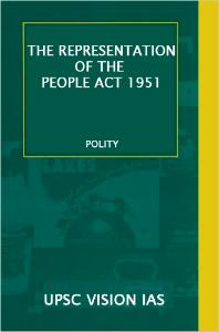 THE REPRESENTATION OF THE PEOPLE ACT, 1951